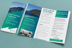 Graphic Design: Tours around Tasmania Brochure Mockup Image