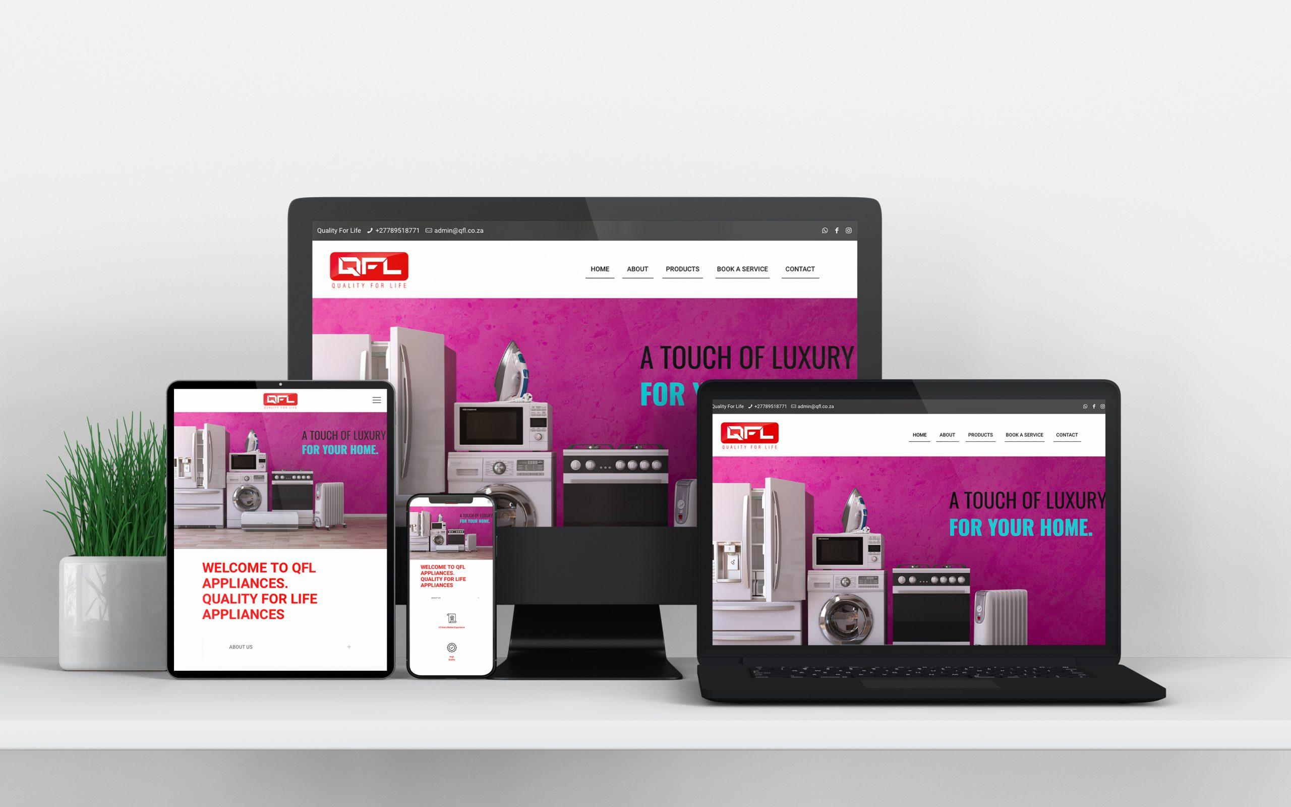 WordPress Website Design: Portfolio Mockup Image QFL